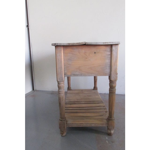 Primitive Pine Console Table - Image 6 of 6