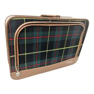 Vintage Tartan Plaid Suitcase