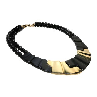 Napier Black & Goldtone Necklace