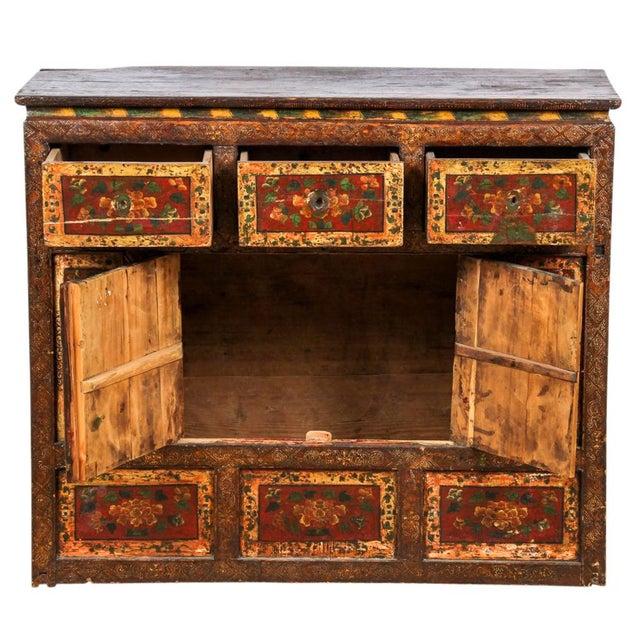 Image of Antique Tibetan Monastery Cabinet