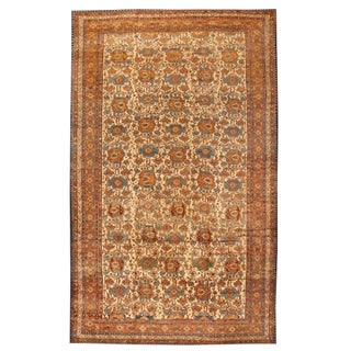 Antique Oversize 19th Century Persian Malayer Carpet