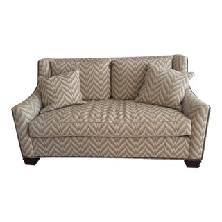 Modern Flame-Stitch Upholstered Sofa