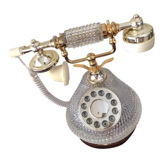 Vintage Crystal & Gold Telephone
