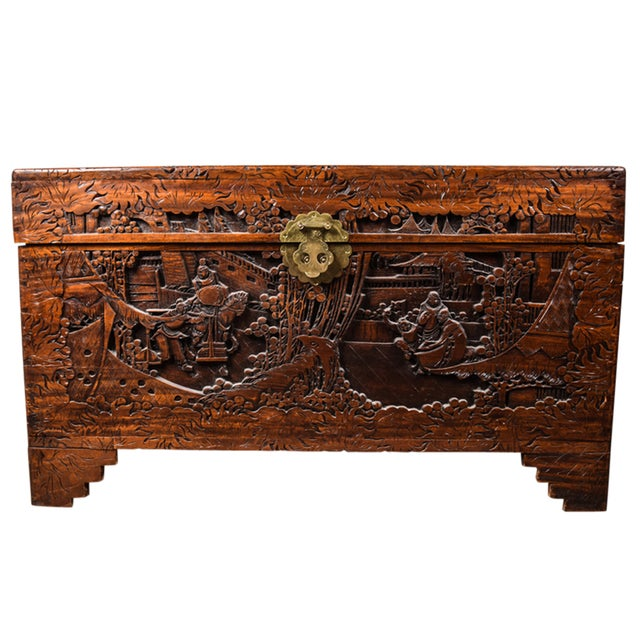 Vintage Chinese Carved Chest - Image 1 of 4