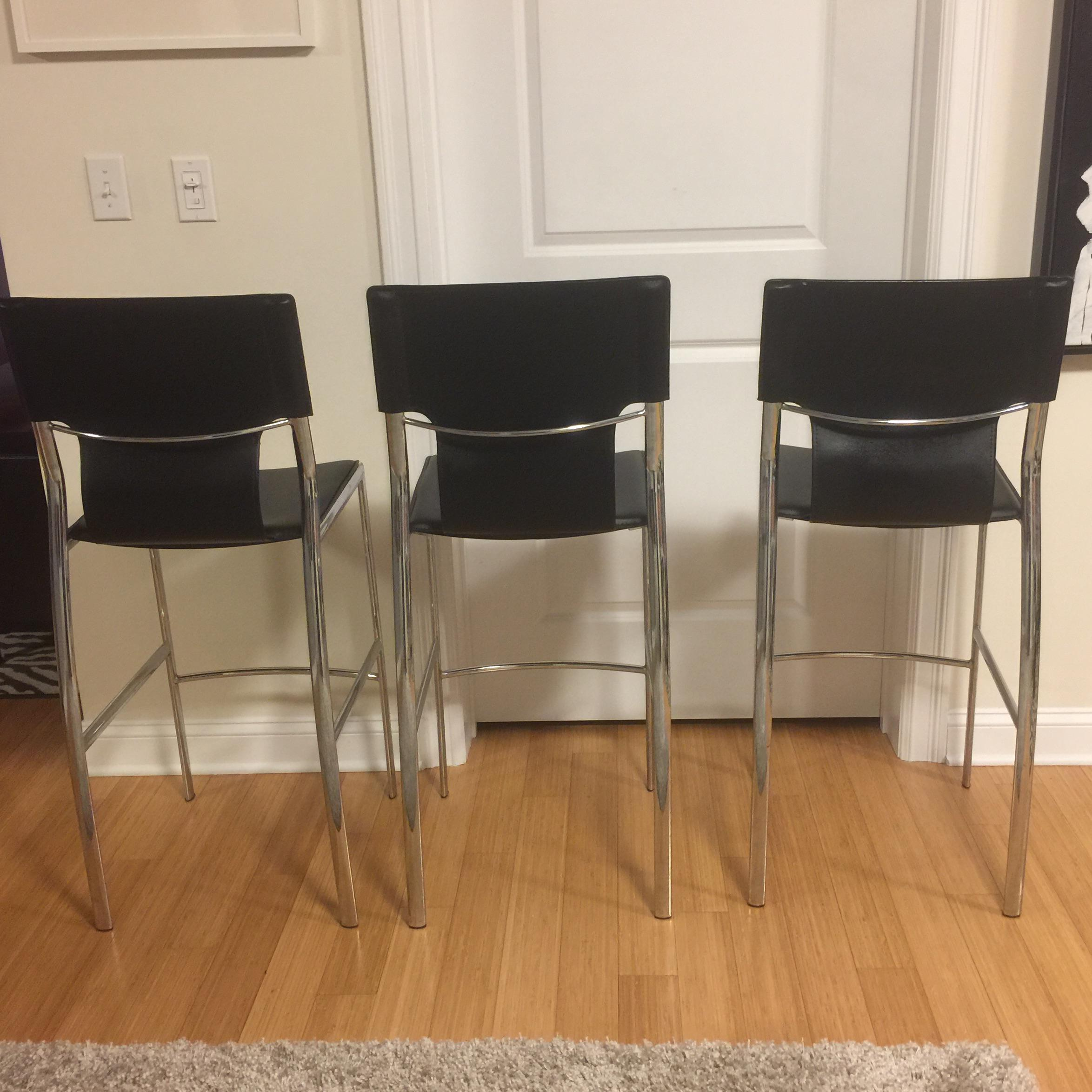 Jensen Lewis Bar Stools Set Of 3 Chairish