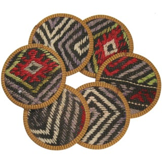 Kilim Coasters, Zümrüt - Set of 6