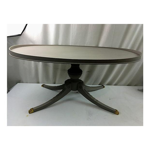 Oval Coffee Table Ireland: Chalky Grey Oval Cocktail Table
