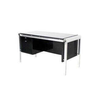 Mid Century Modern Heavy Granite Top Desk