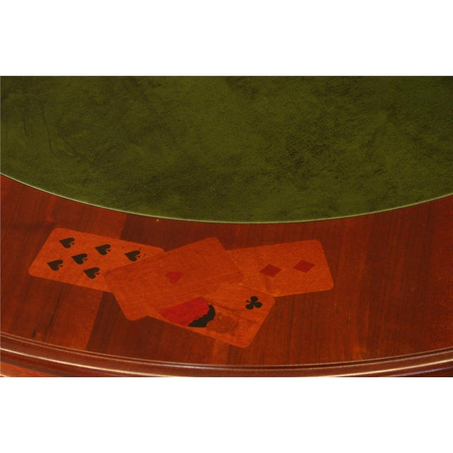 Image of Italian Rococo Round Inlaid Card Table