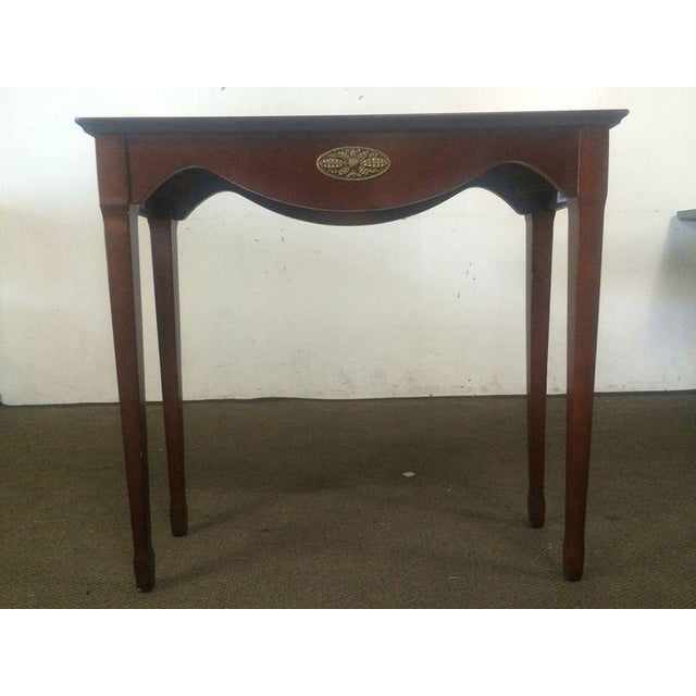 Image of The Bombay Company Carved Mahogany Side Table
