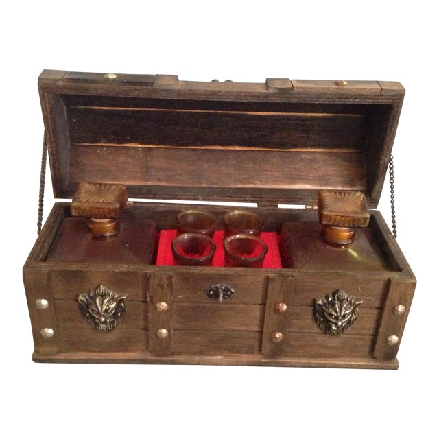 Image of Vintage Lion Decanter Chest