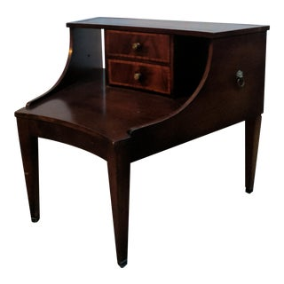 Vintage Leather Top & Wood End Table