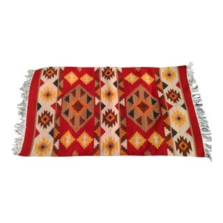 Handmade Indian Wool Kilim Scatter Rug - 2′6″ × 4′2″