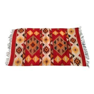 Handmade Indian Wool Kilim Scatter Rug - 2′6″ × 4′2″