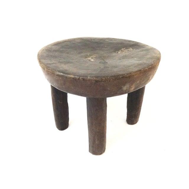 Image of Vintage African Carved Wood Milk Stool