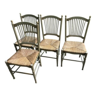 Rush Seat Dining Chairs - Set of 4