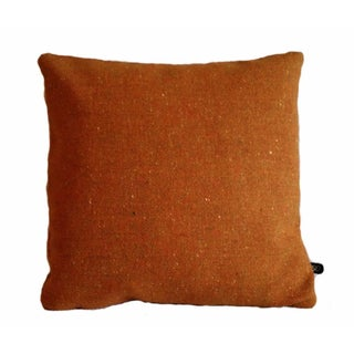 Maharam Melange Tweed Inca Orange Wool Pillow Cover
