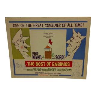 """""""The Best of Enemies"""" Vintage Movie Poster 1962"""