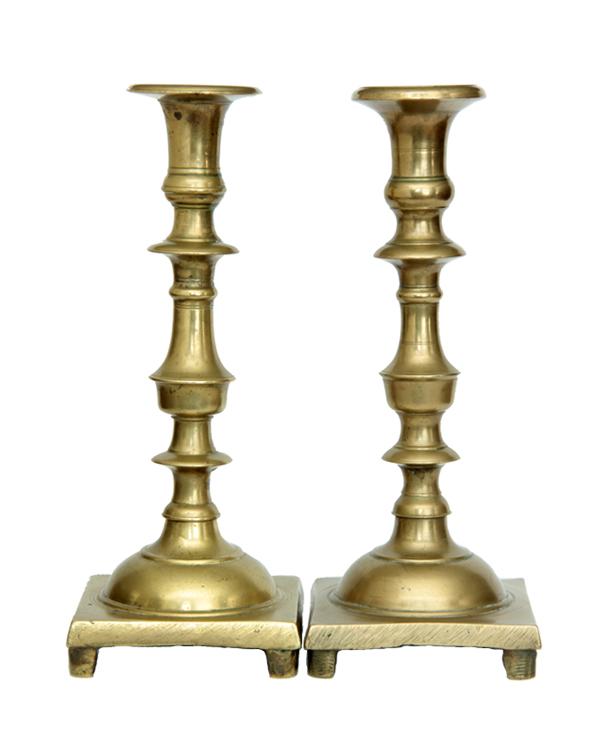 Brass Candlesticks antique russian brass candlesticks - a pair | chairish