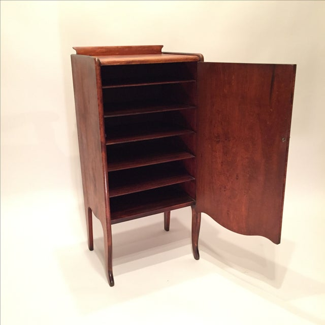 Image of Antique Mahogany Sheet Music Cabinet