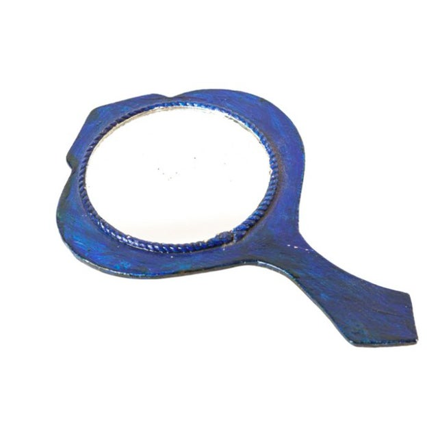 Mod 1960s Floral Hand Mirror - Image 2 of 2