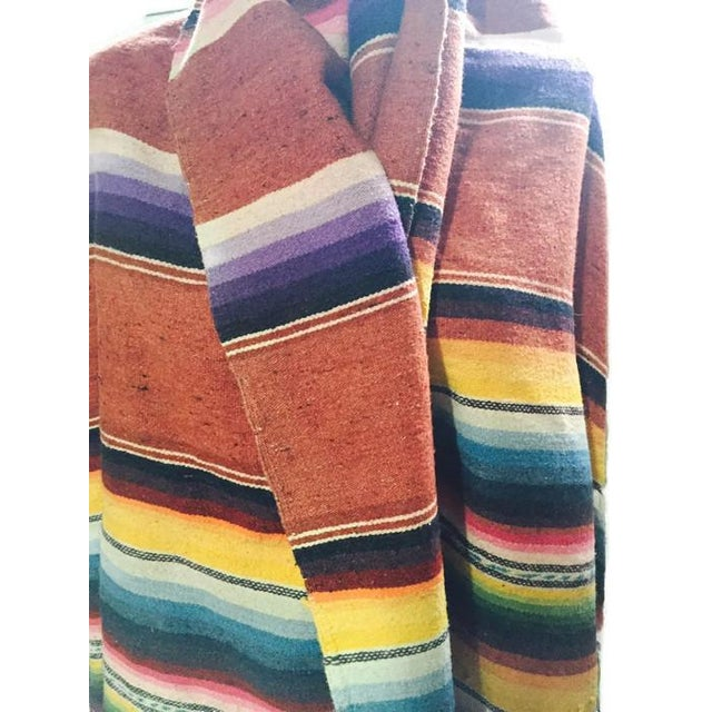 Vintage Saltillo Mexican Blanket Southwest Throw - Image 2 of 6