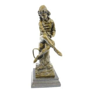 Art Nouveau Solid Bronze Statue
