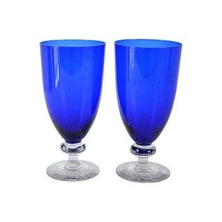 Cobalt Cocktail Stems- A Pair
