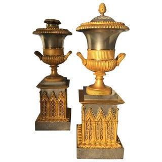 Pair of Russian Empire Candle Sticks