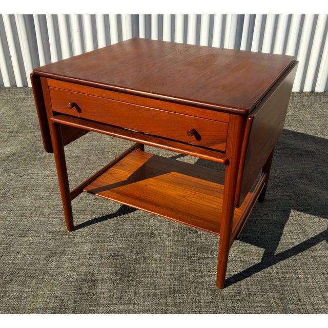 Danish Modern Hans Wegner Sewing Table A33 - Image 3 of 7