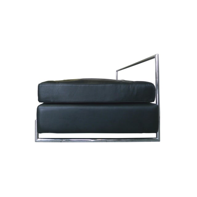 Eileen Gray Chrome and Leather Daybed - Image 4 of 8