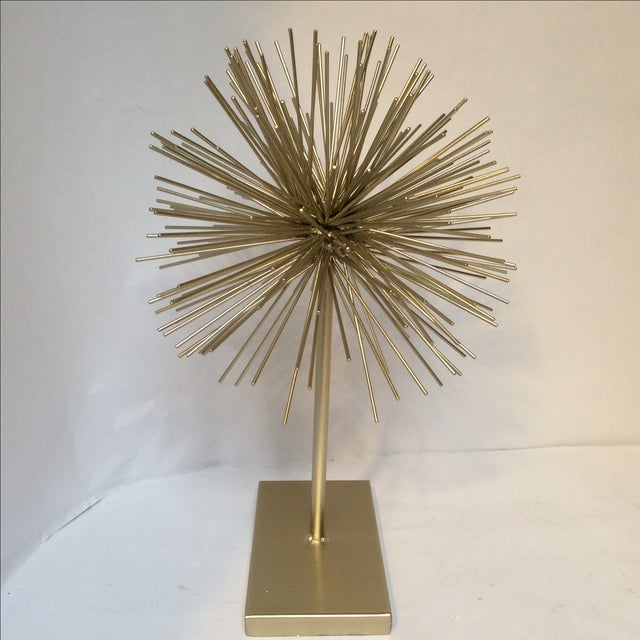 Large Gold Star Burst on Stand - Image 3 of 6