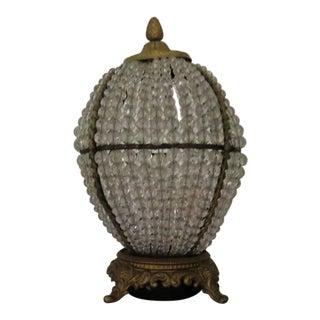 Hollywood Regency Glass Beaded Lamp