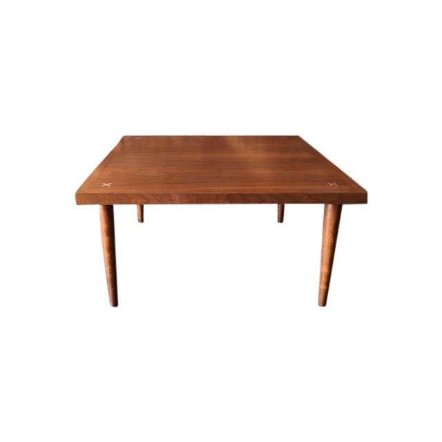 American of Martinsville Walnut Inlay Coffee Table - Image 1 of 7