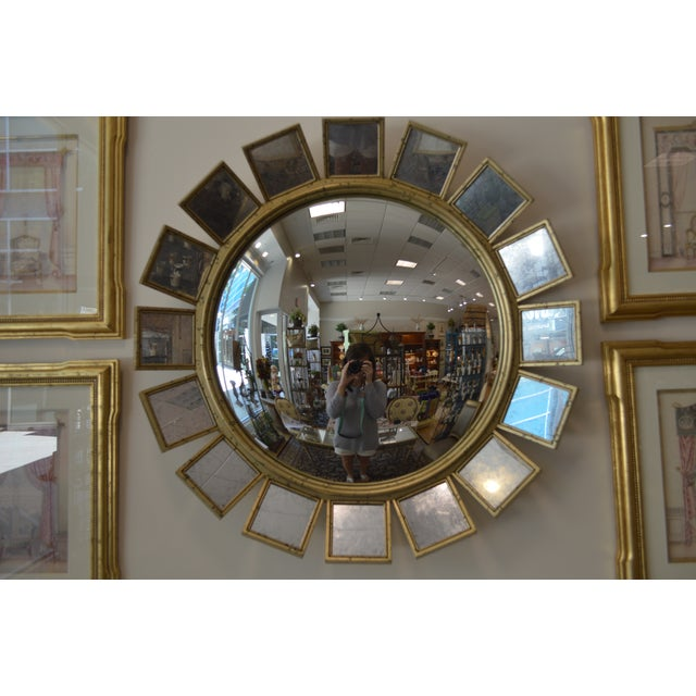 Silver Leaf & Mirrored Sunburst Wall Mirror - Image 2 of 5