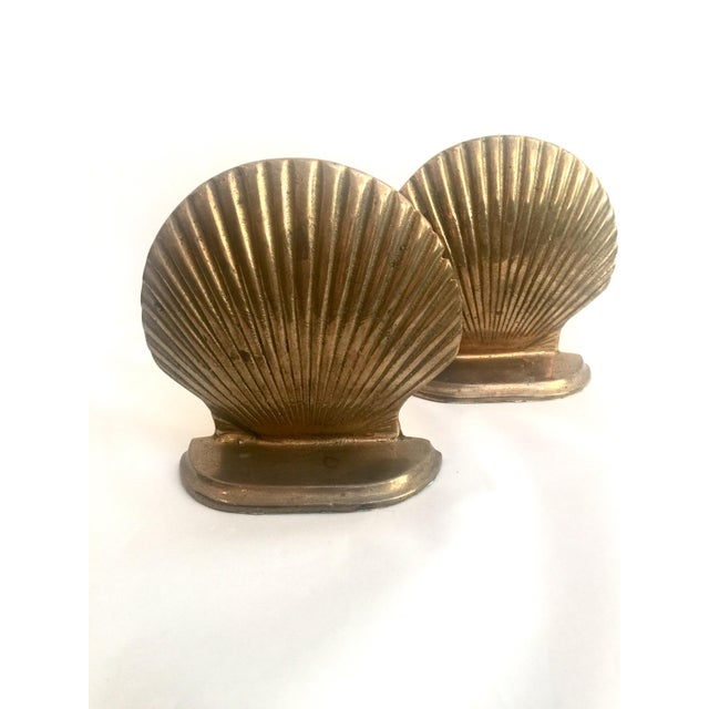 Brass Shell Bookends - Pair - Image 2 of 6