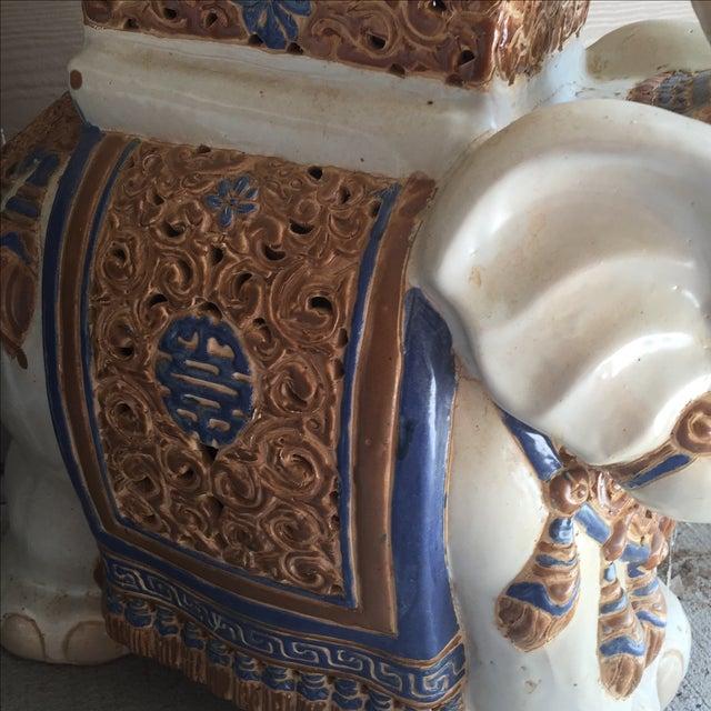 Chinoiserie Ceramic Elephant Garden Stool - Image 6 of 7