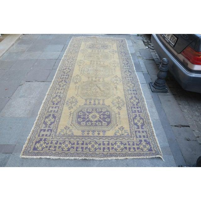 Turkish Handmade Wool Runner Rug 47 114 Chairish