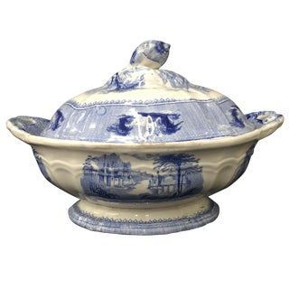 Clementson Ironstone Blue & White Vegetable Tureen