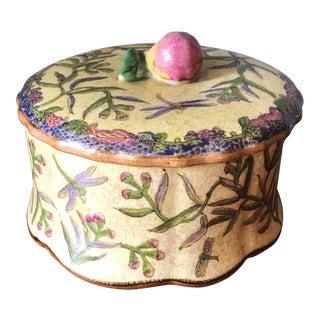 Antique Dragon Fly Ceramic Box
