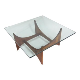 Adrian Pearsall Glass Top Coffee Table