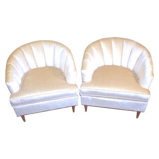 Hollywood Regency Mid-Century Tub Chairs -  Pair