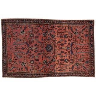 "Antique Persian Sarouk Rug - 4'3"" x 6'8"""