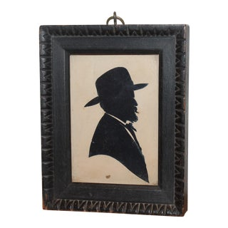 Signed Early 19th Century Silhouette of Colonial Gentleman