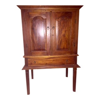 Traditional Style Dark Wood Armoire