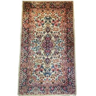 Antique Wool Kirman Persian Rug, 5'x3'