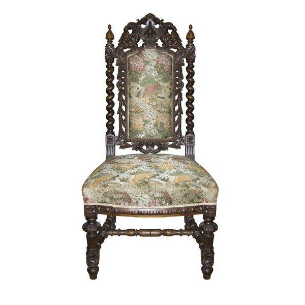 Image of Antique Carved Baroque Chair