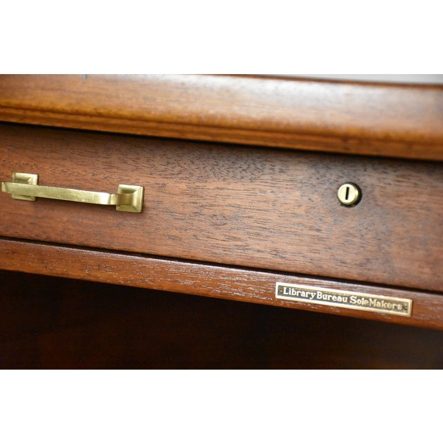 Antique Solid Mahogany Executive Desk - Image 3 of 11