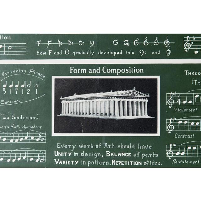 Image of Antique Framed 1920's Music Lesson