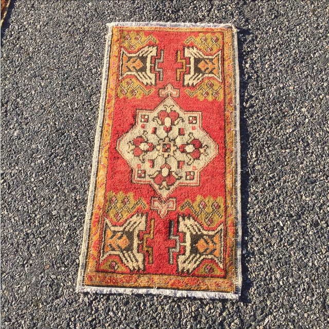 "Vintage Anatolian Persian Rug - 1'7"" X 3'4"" - Image 2 of 7"